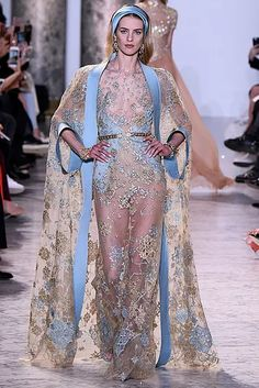 esa-hc-ss17-072-654x980 Couture Fashion, Fashion Show, Fashion Outfits, Elie Saab Couture, Sheer Clothing, Evolution Of Fashion, Special Dresses, Chiffon Dress, Pretty Outfits
