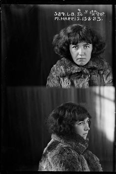 Vintage female criminal mug shots 1920s