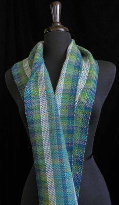 Handwoven Scarf Wool Tencel Alpaca Cashmere Scarf  by FiberFusion, $98.00