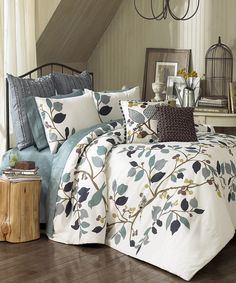 Look at this Vue Paradiso Reversible Comforter Set on #zulily today!