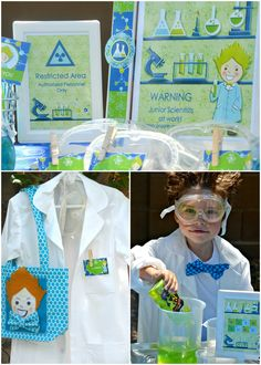 Super Creative Party Idea: MAD SCIENTIST {Cute for playdate or summer camp idea too}