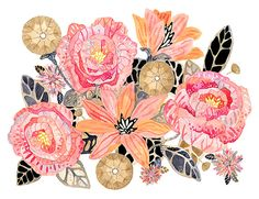 Hey, I found this really awesome Etsy listing at https://www.etsy.com/listing/233437385/flower-art-print-watercolor-painting