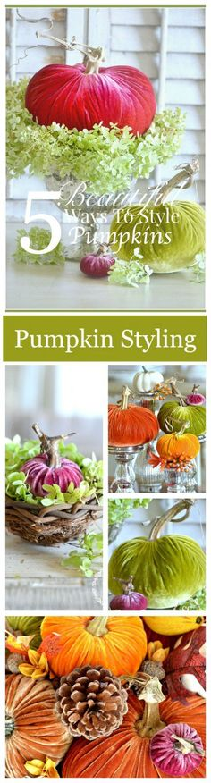 5 BEAUTIFUL WAYS TO STYLE PUMPKINS... AND AN AMAZING PUMPKIN GIVEAWAY - StoneGable