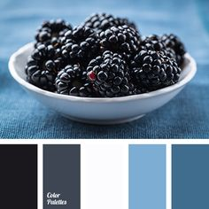 The restrained palette of soothing tones of noble. A beautiful gray-blue and blue create a freshness and coolness. Color stormy sky - dark gray - and black. Blue Colour Palette, Colour Schemes, Color Patterns, Color Combinations, Color Azul, Color Harmony, Color Balance, Design Seeds, Colour Board