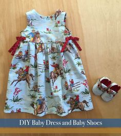 The cutest cowgirl dress and matching baby shoes! DIY with the patterns!