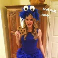 DIY Cookie Monster Costume - No Sew!