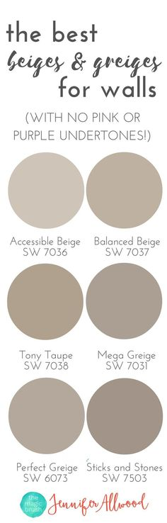 the best Beige and Greige Wall Paints for walls | Magic Brush | Jennifer Allwood's Top 50 Wall Paint Colors | Paint Color Ideas | Best Neutral Hues | Neutral Interior Paint Colors | best paint colors for living rooms #interiordecoratingapartmentpaintcolors