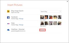 Insert #Pictures from #OneDrive in #PowerPoint 2013 for Windows