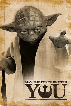 Star Wars - Yoda - May the Force Be With You - Official Poster