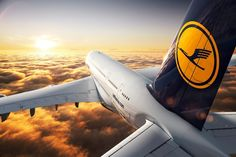 Lufthansa up in the air