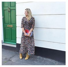 Rock the 70s, winter floral trend in this Goldie London maxi. It's a must-have look for this season.