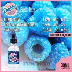 Chubby Bubble Vapes (Bubble Razz) - ягодная сахарная вата с жвачкой