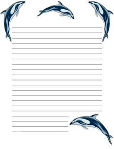 Dolphins - papier a lettre