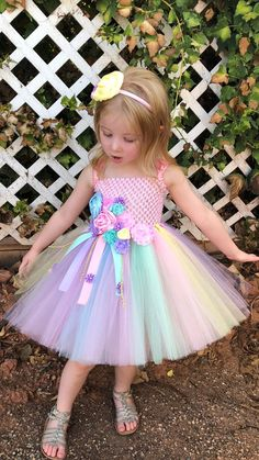 Unicorn Tutu Dress Pink Birthday Dress P - Diy Crafts Pink Tutu Dress, Pink Flower Girl Dresses, Dresses Kids Girl, Baby Dress, Girl Tutu, Tutu Dresses, Pageant Dresses, Flower Girls, Party Dresses