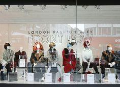 A window display from Debenhams on Oxford street.