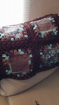 """From fan Cyndie Doran: """"My new project using Red Heart Super Saver. My 2 favorite things, quilts and afghans."""""""