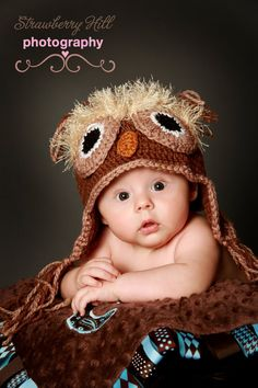 The Owl Hat Natural  Photo Prop 6 -12 by CreativeDesignProps, $25.00