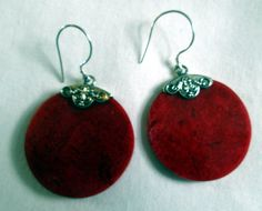 EARRINGS  Vintage Red CORAL FILIGREE  French Hook by MOONCHILD111, $15.99 https://www.etsy.com/shop/MOONCHILD111