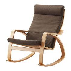 POÄNG Cadeira de baloiço - Dansbo castanho, chapa de bétula - IKEA