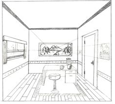 One Point Perspective Interior by brandnewsong