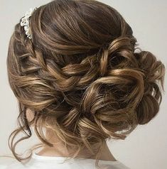 Braided updo hairstyle #weddinghair #updo #bridehair