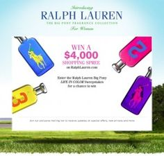 Win a $4000 shopping spree to Ralph Lauren! http://media-cache2.pinterest.com/upload/253468285247975593_K2wCLnkE_f.jpg womanfreebies sweepstakes