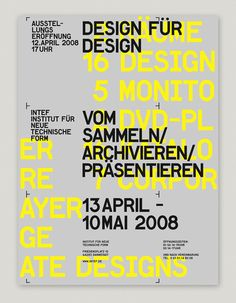 Intef Exhibition poster via saveframe.de