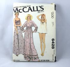 70's McCall's 6428 Pattern Misses' Wrap Robe and by ElkHugsVintage