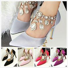Diamond adorned shoes