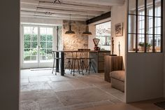 Castle Stones Dalle available for Holland: www.eisinga-brand … Source by jasmin_tritschl Country House Design, Interior Architecture, Interior Design, Brick Loft, Concrete Floors, Kitchen Flooring, Decoration, Holland, Sweet Home