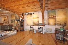 Robin Luciano Beaty, encaustic studio