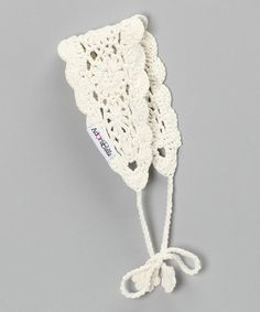 Take a look at this Cream White Crocheted Headband by AdoraBelle Pettiskirts on #zulily today!