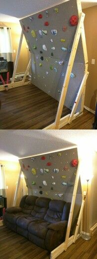 Home climbing wall. Free standing, great for the apartment.