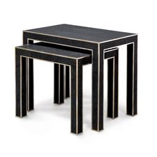 Tables. Harlow Shagreen Nesting Tables.  Shop It: Palecek.