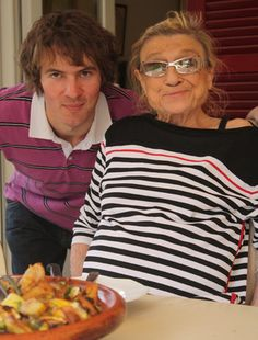 my grandmother and me in july 2010