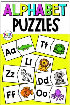 Are you looking for literacy center ideas and activities, or a fun way to practice matching letters and sounds? These 27 alphabet puzzles (two options for the letter Xx) in color and ink-saving black and white are perfect for centers, morning work, small group instruction, or intervention!