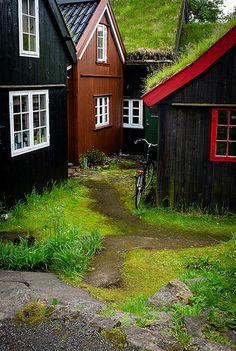 Old houses in Torshavn, Faroe Islands   by Justine Kibler