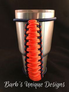 Denver Broncos Bungee Handle for Tumblers, Tumbler Handle, Paracord Handle, Fits Yeti, Ozark, RTIC and other 20oz/30oz/40oz Tumblers by BarbsUniqueDesignUS on Etsy