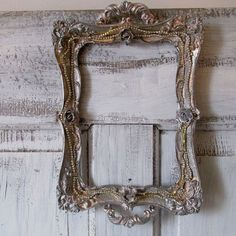 Picture frame wall hanging painted metallic by AnitaSperoDesign