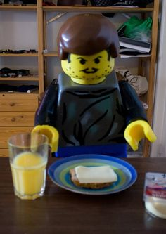 Lego man eating lunch by on DeviantArt Lego Man, Lunch, Deviantart, Eat, Decor, Decoration, Eat Lunch, Decorating, Lunches