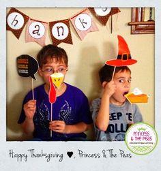 Thanksgiving Photo Props | Thanksgiving Printables  http://princessandthepeas.com/blog/
