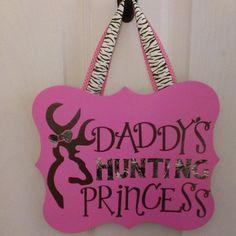 Daddy's Hunting Princess in Realtree Camo Vinyl by LeftHandedLady, $14.75