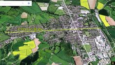 Satellite view of Leominster, Herefordshire. It's only a mile and a half from edge to edge.
