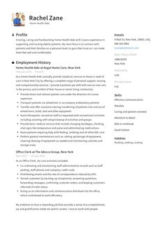 11 Home Health Aide Resume Examples Ideas Home Health Aide Home Health Resume Examples