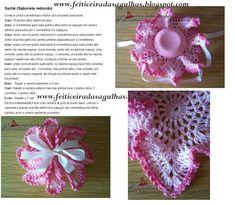 ARTESANATO FOFO: Sachê para sabonete feito em crochê