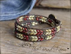 Wrap Bracelet Beaded Leather Bracelet Beaded Wrap Bracelet