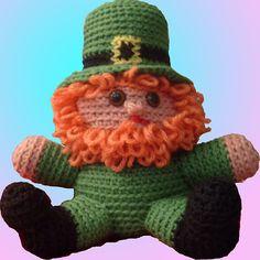 Happy St. Patrick's Day crochet  Did I hear Mischievous Leprechaun on the Shelf