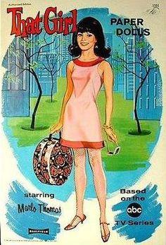 That Girl Paper Doll Book 1967  Marlo Thomas #vintage #paperdoll #ThatGirl