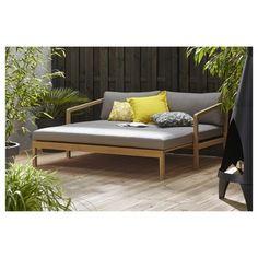 GAMMA | Loungebank Logan Hout 67,5x168x90 cm kopen? | loungesets Bali House, Diy Furniture, Outdoor Furniture, Outdoor Sofa, Outdoor Decor, Patio, Daybed, Logan, Home And Garden