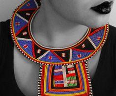 Zulu style beadwork collar